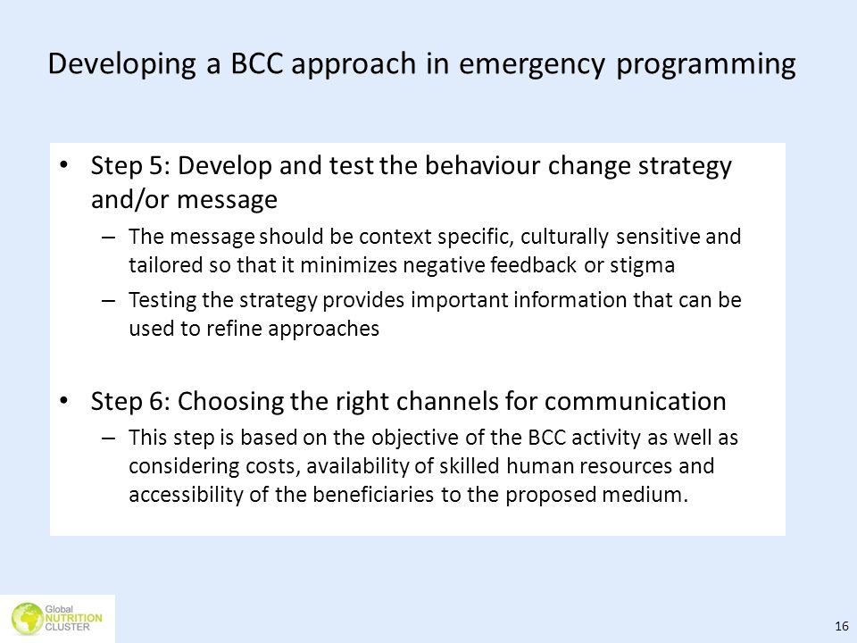 Developing a BCC approach in emergency programming