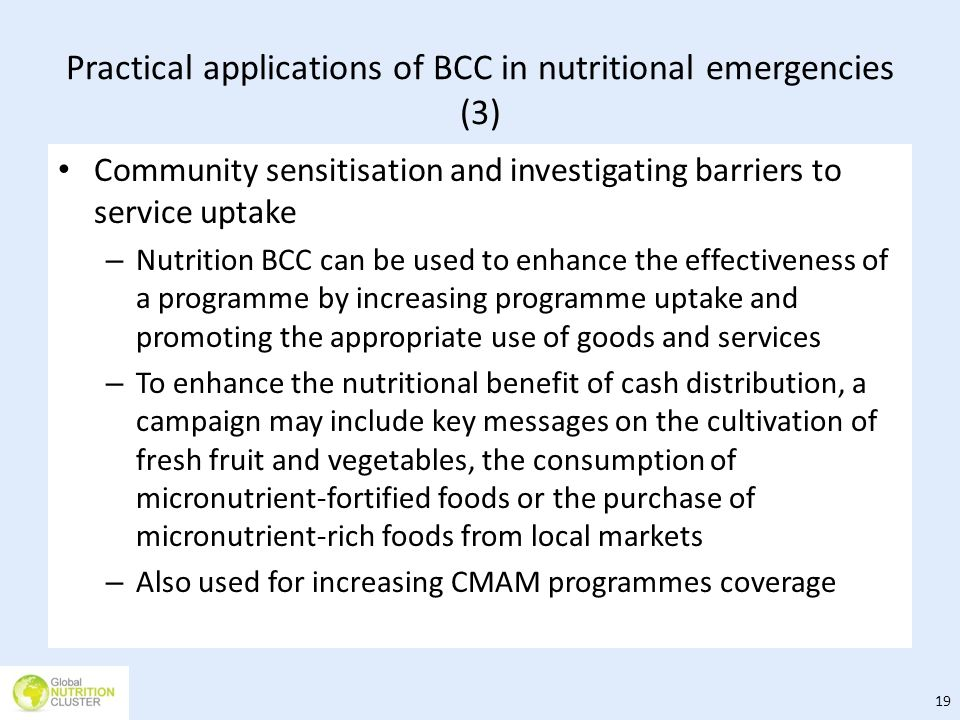 Practical applications of BCC in nutritional emergencies (3)