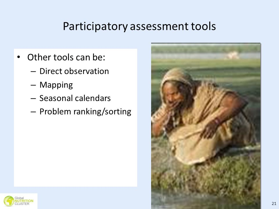 Participatory assessment tools