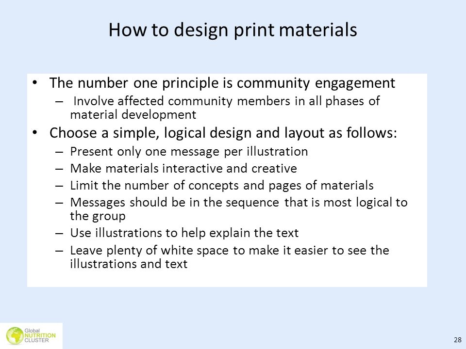 How to design print materials