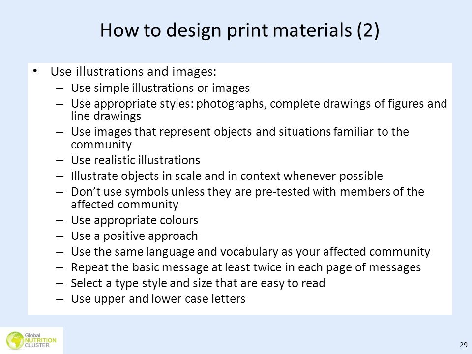 How to design print materials (2)