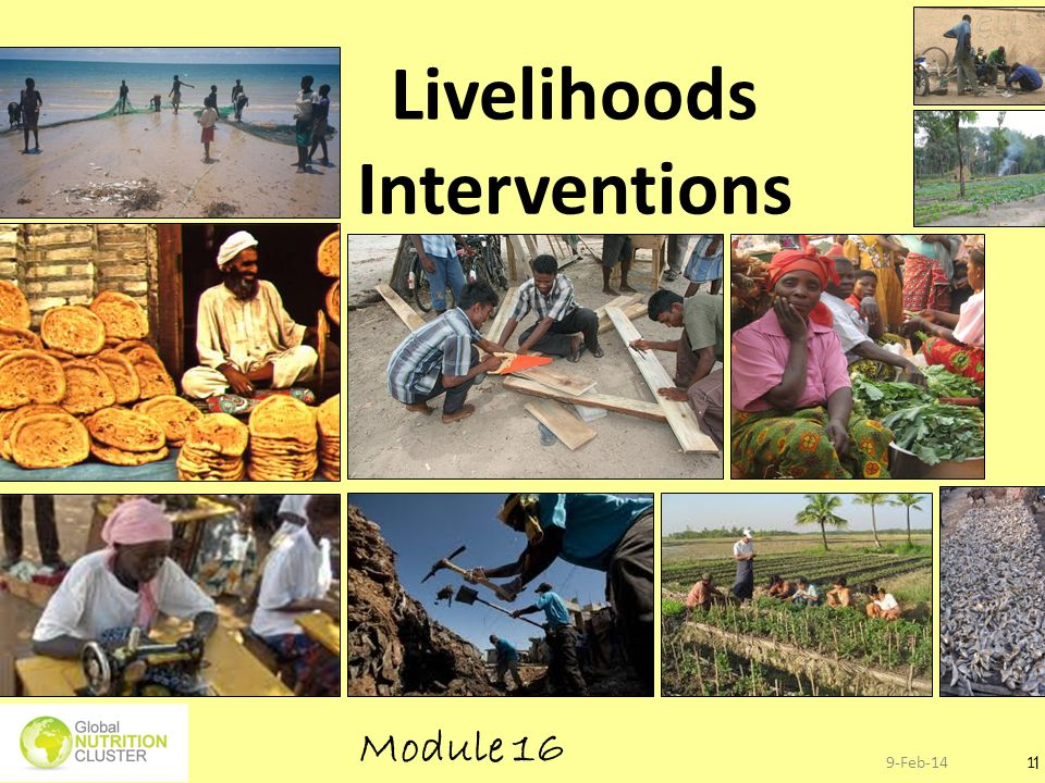 Save lives and save (or restore) livelihoods…..