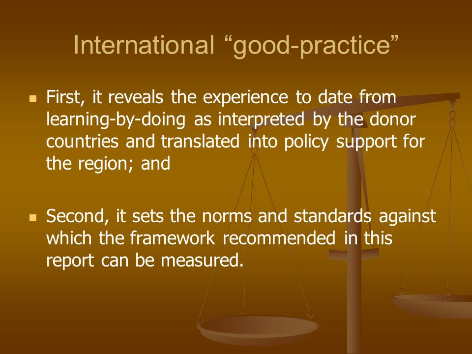International good-practice