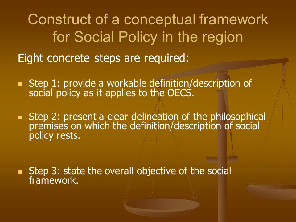 Construct of a conceptual framework for Social Policy in the region