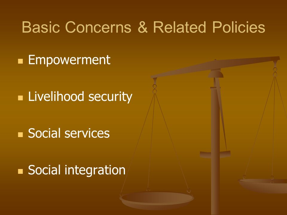 Basic Concerns & Related Policies