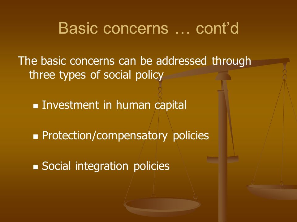 Basic concerns … cont'd