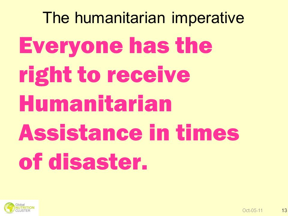 The humanitarian imperative