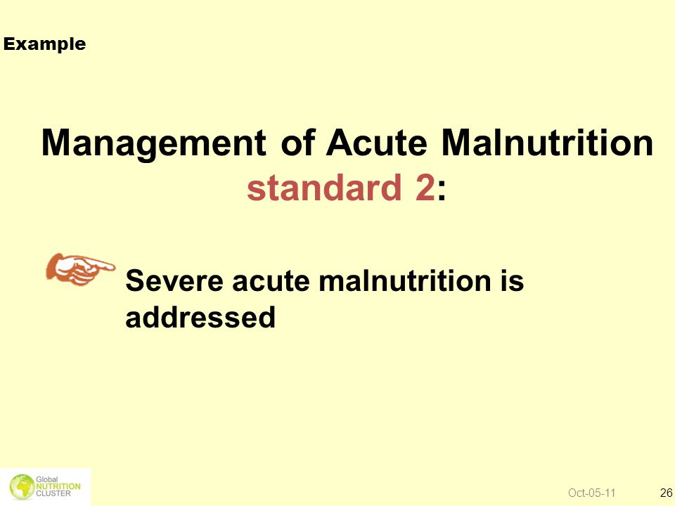 Management of Acute Malnutrition standard 2: