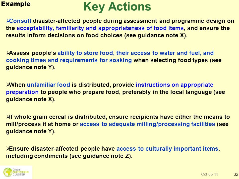 Key Actions Example.