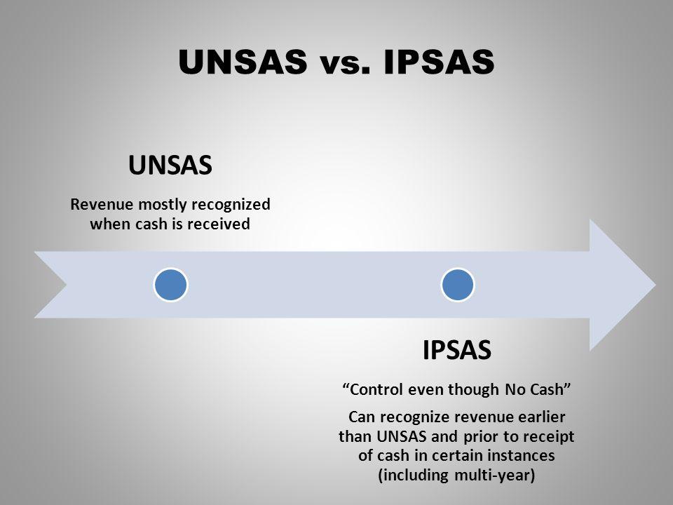 UNSAS vs. IPSAS UNSAS IPSAS