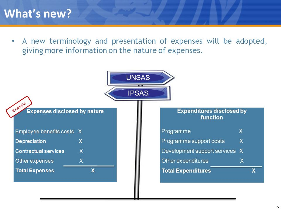 What's new A new terminology and presentation of expenses will be adopted, giving more information on the nature of expenses.