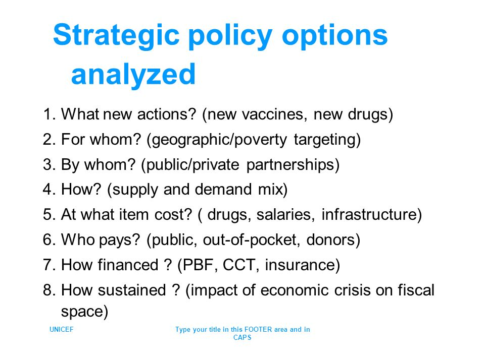 Strategic policy options analyzed
