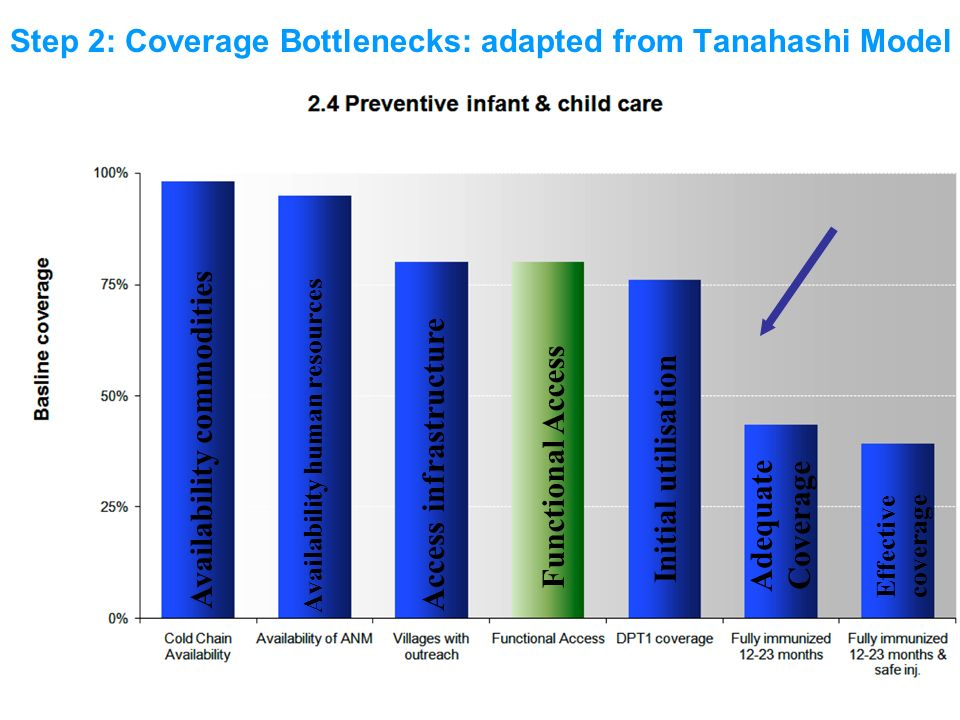 Step 2: Coverage Bottlenecks: adapted from Tanahashi Model