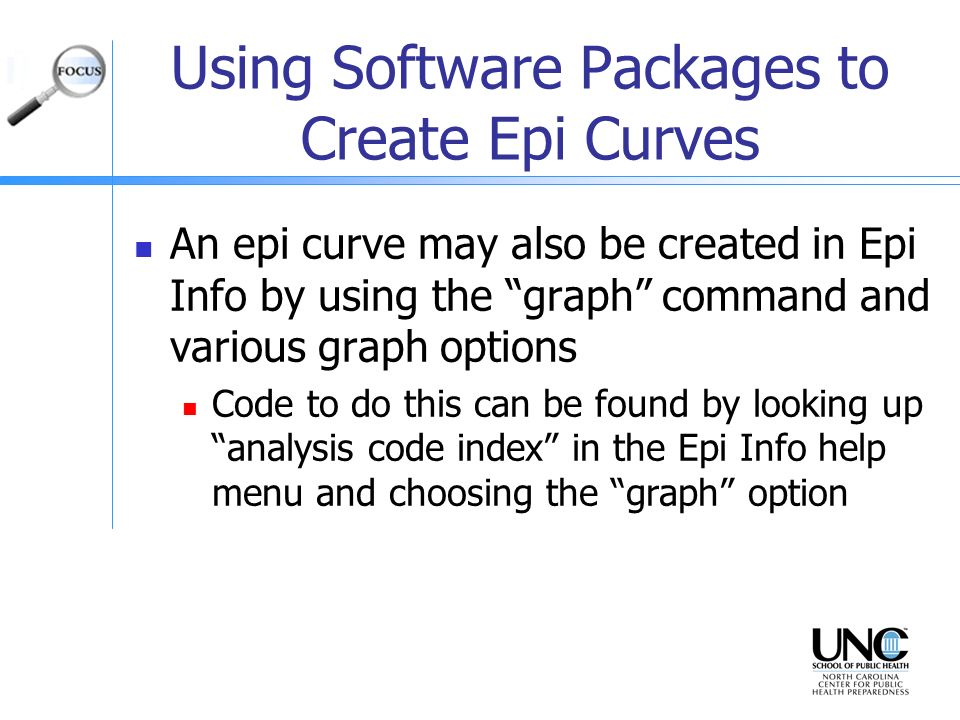 Using Software Packages to Create Epi Curves