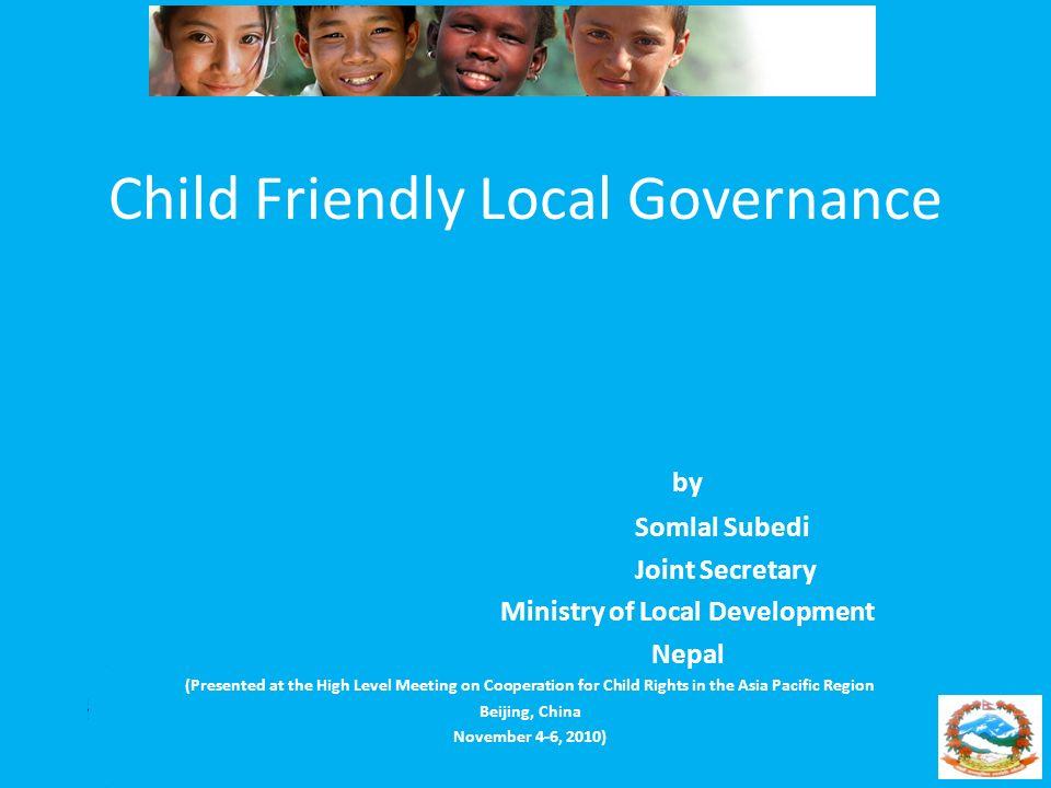 Child Friendly Local Governance