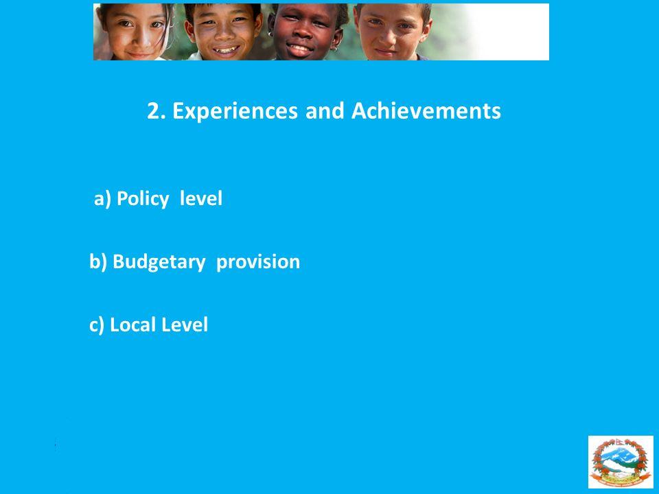 2. Experiences and Achievements