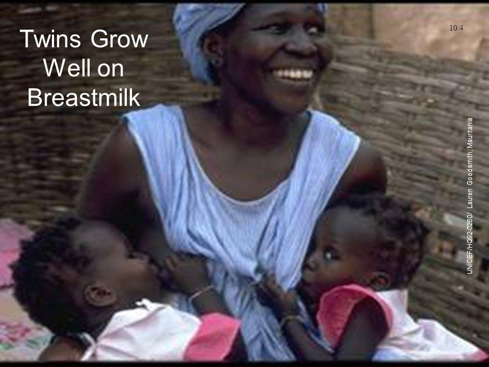 Twins Grow Well on Breastmilk