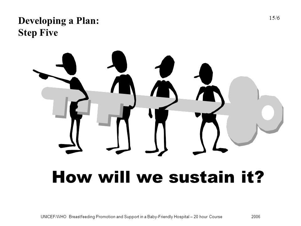 How will we sustain it Developing a Plan: Step Five 15/6