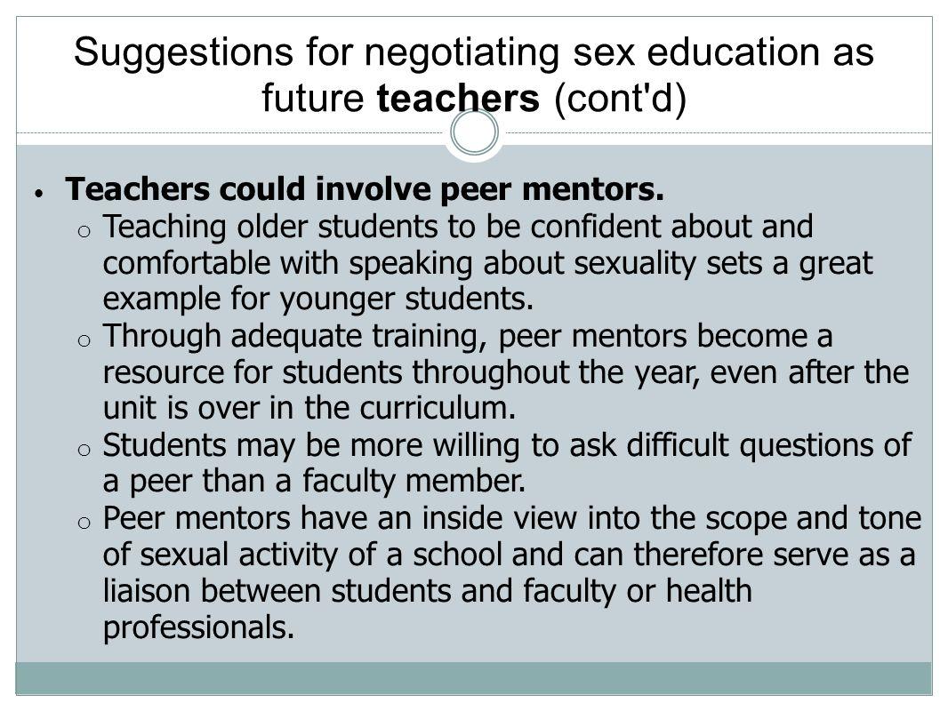 Sex education curriculum example