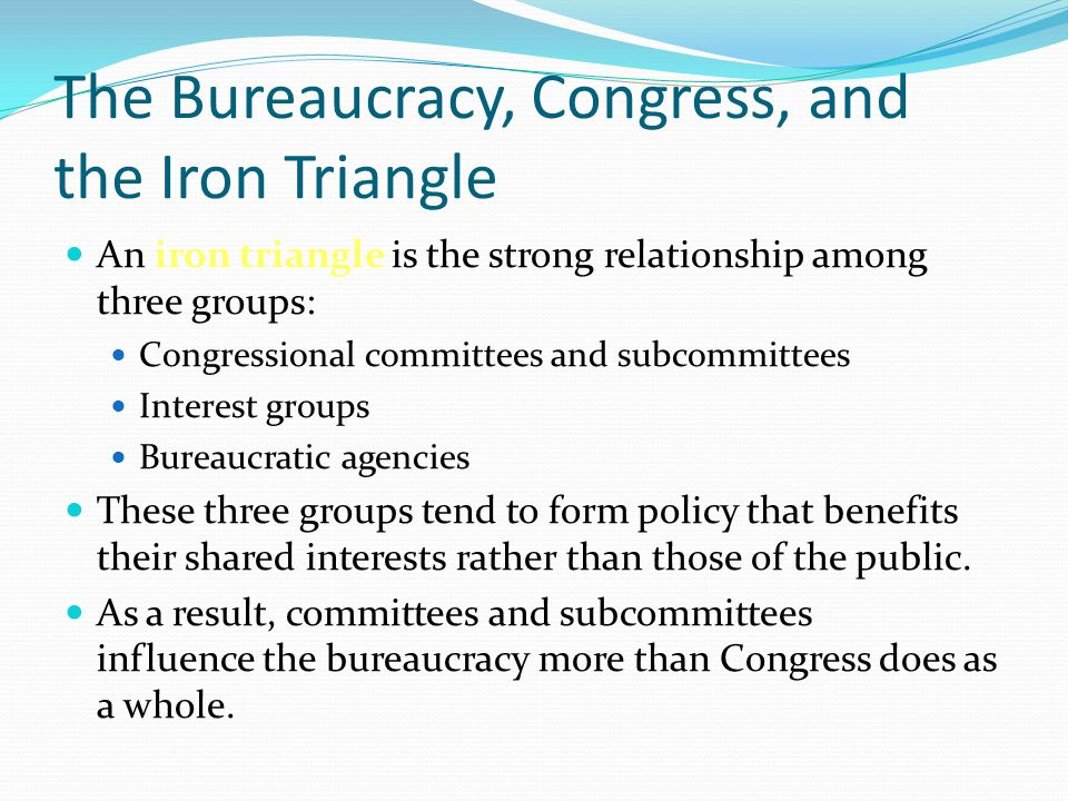 relationship between bureaucracy and congress