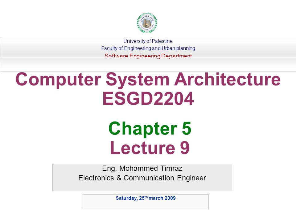Computer System Architecture Esgd Ppt Video Online Download