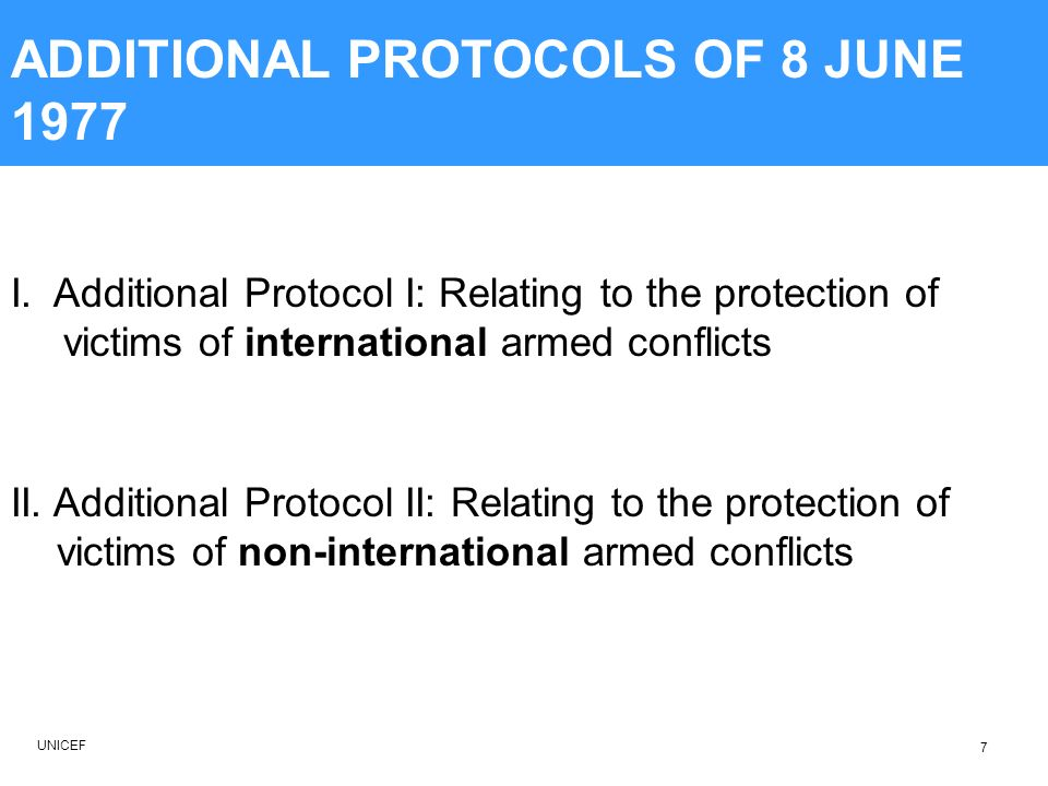 ADDITIONAL PROTOCOLS OF 8 JUNE 1977