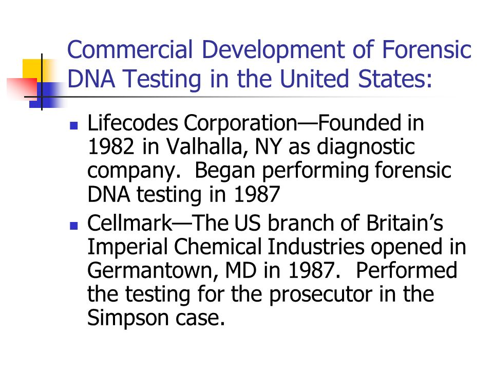 dna forensics in the case of Forensic dna databases constitute an important investigative resource in  contemporary criminal justice systems the centralized and computerized  storage of.