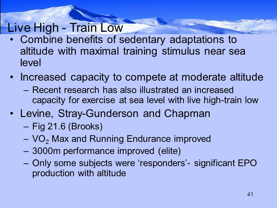 Exercise And Altitude Chapter Brooks Ch McArdle Katch And - Sea level altitude