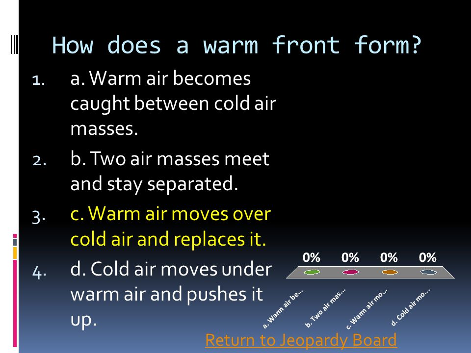 How does a warm front form