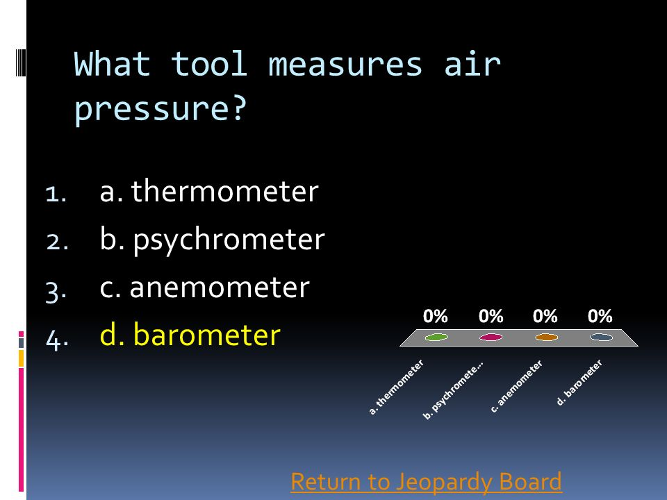 What tool measures air pressure
