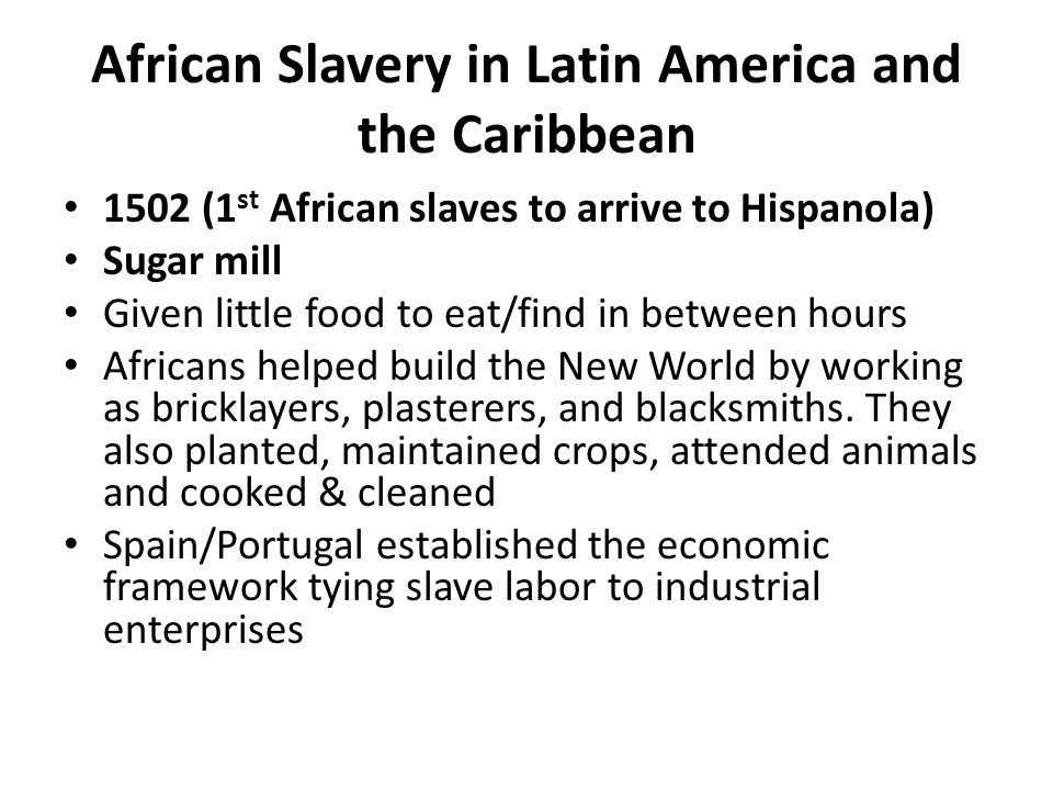 From empires to bondage bringing africans to the americas for African crops and slave cuisine