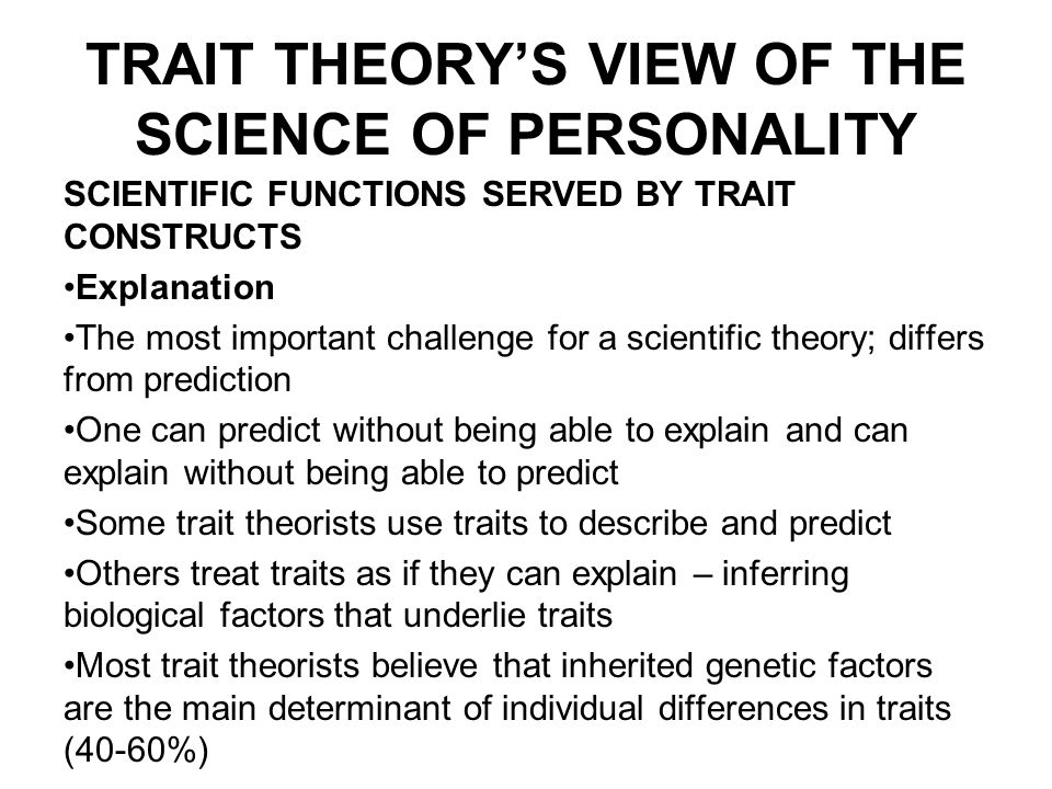 trait theories approach by theorist allport and cattell