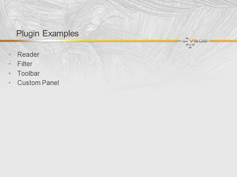 Plugin Examples Reader Filter Toolbar Custom Panel