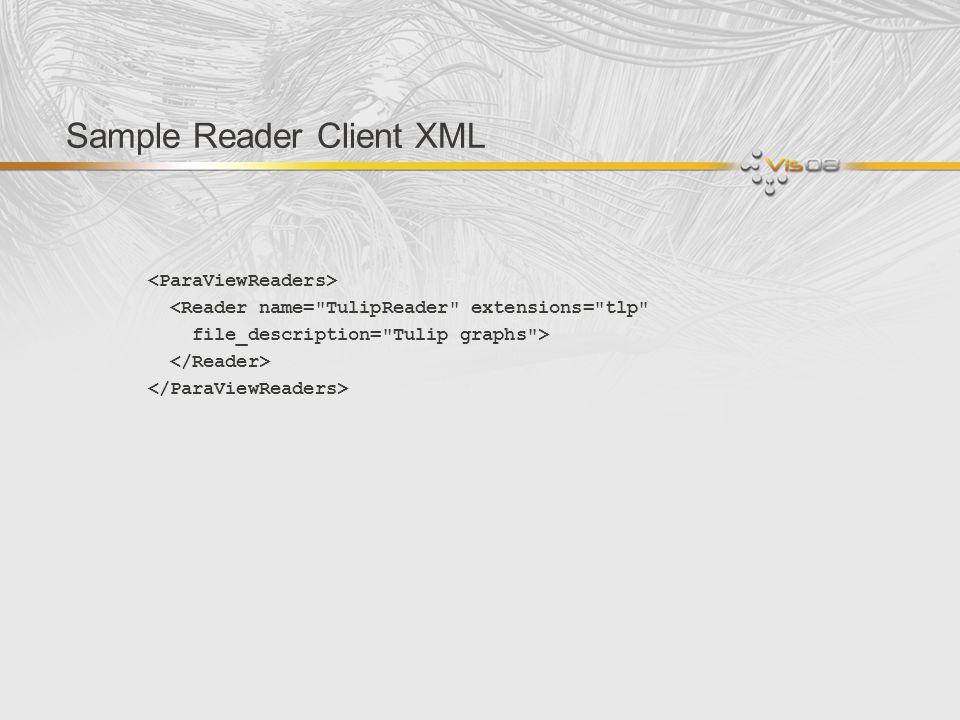 Sample Reader Client XML