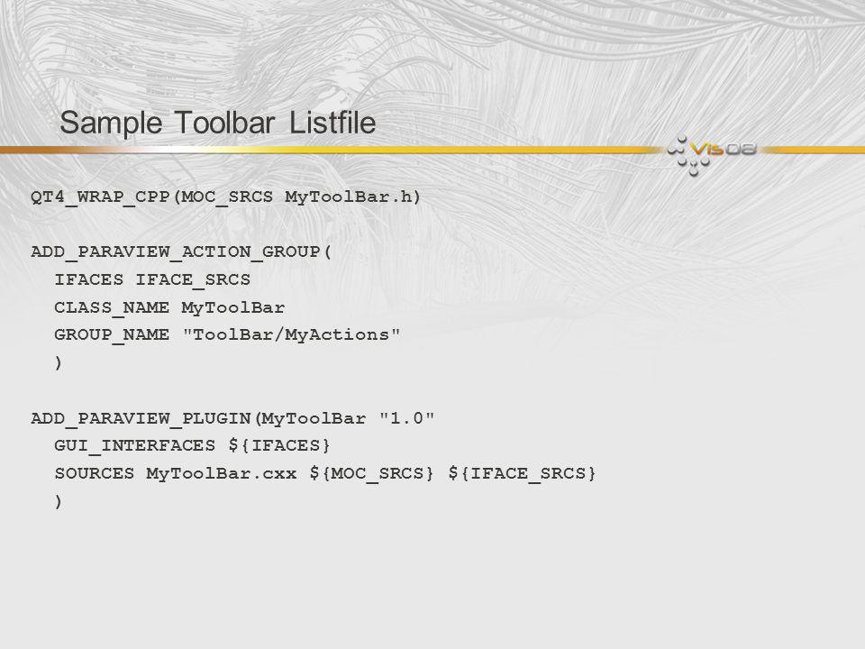 Sample Toolbar Listfile