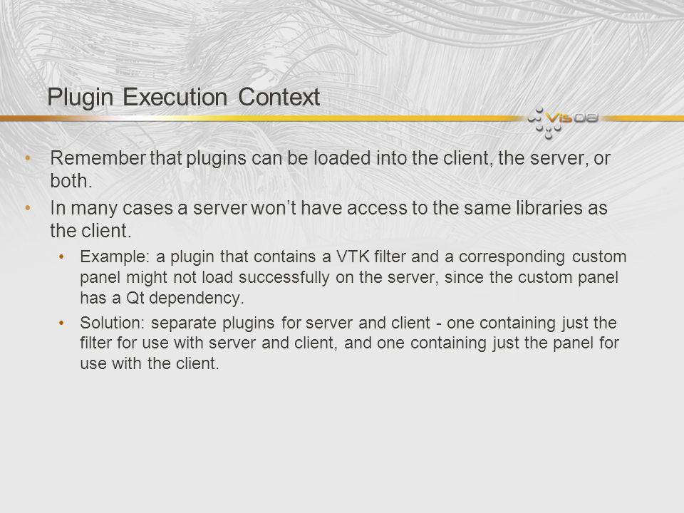 Plugin Execution Context