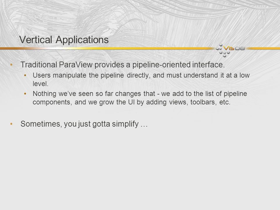 Vertical Applications