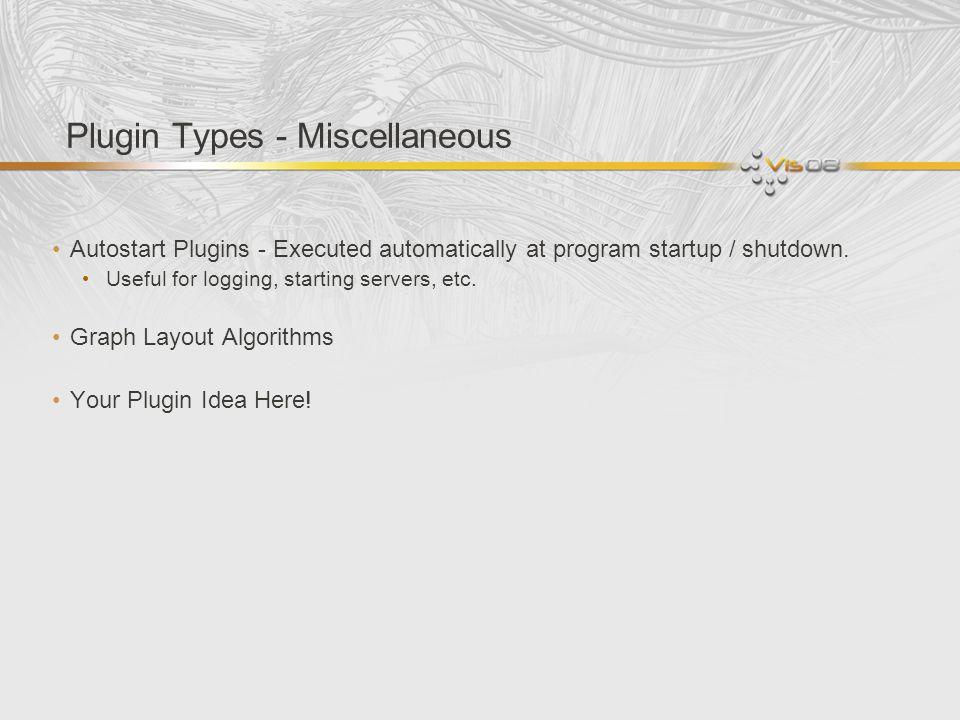 Plugin Types - Miscellaneous