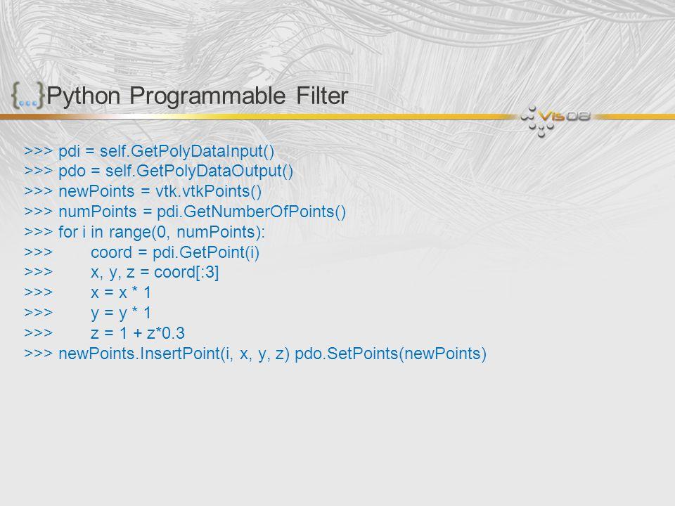Python Programmable Filter