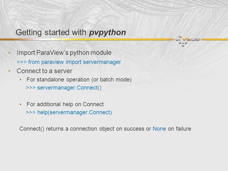 Getting started with pvpython