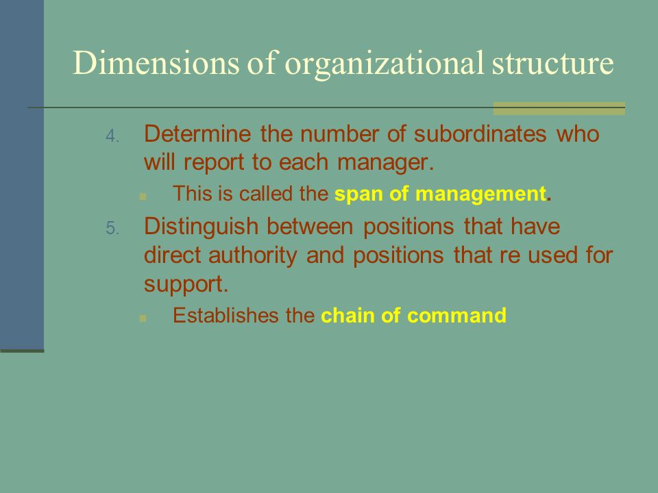 Distinguish between chain of command and unity of command.