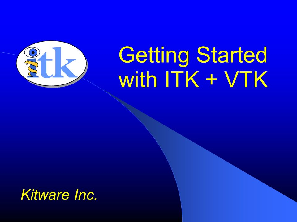 Getting Started with ITK + VTK