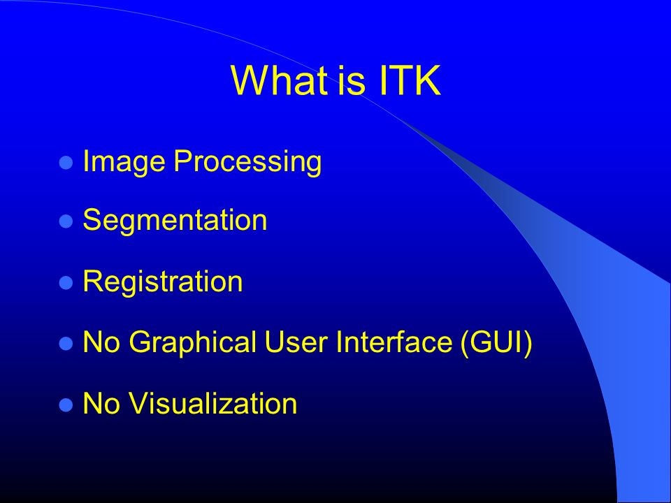 What is ITK Image Processing Segmentation Registration