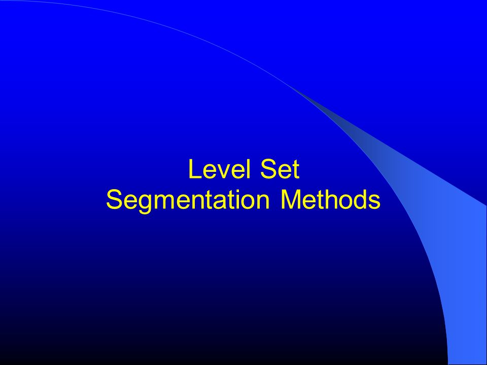 Level Set Segmentation Methods