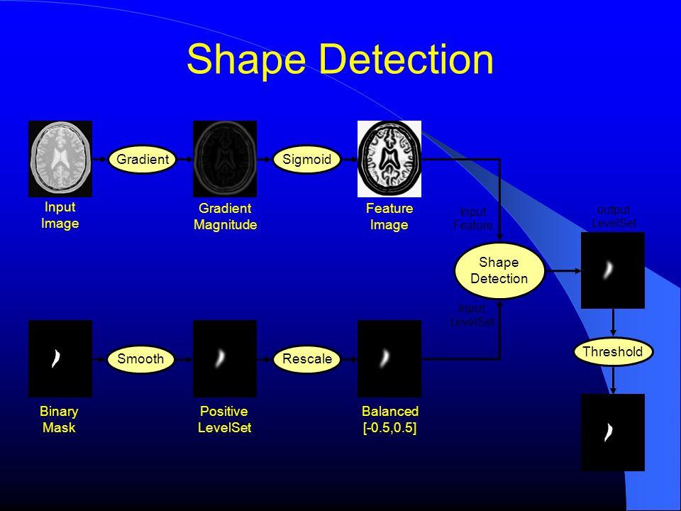 Shape Detection Input Image Gradient Magnitude Feature Image Sigmoid