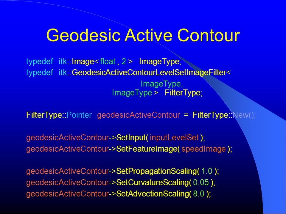 Geodesic Active Contour