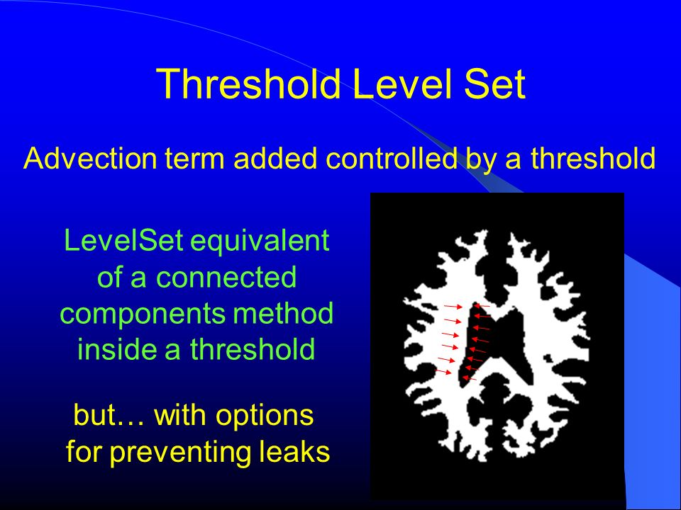 Advection term added controlled by a threshold