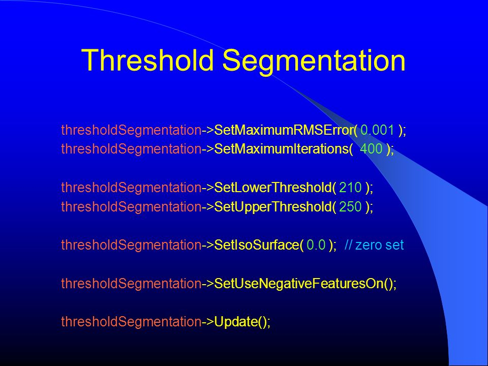 Threshold Segmentation