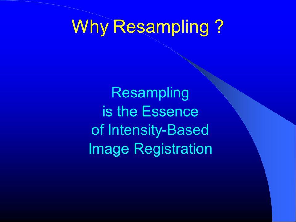 Resampling is the Essence of Intensity-Based Image Registration