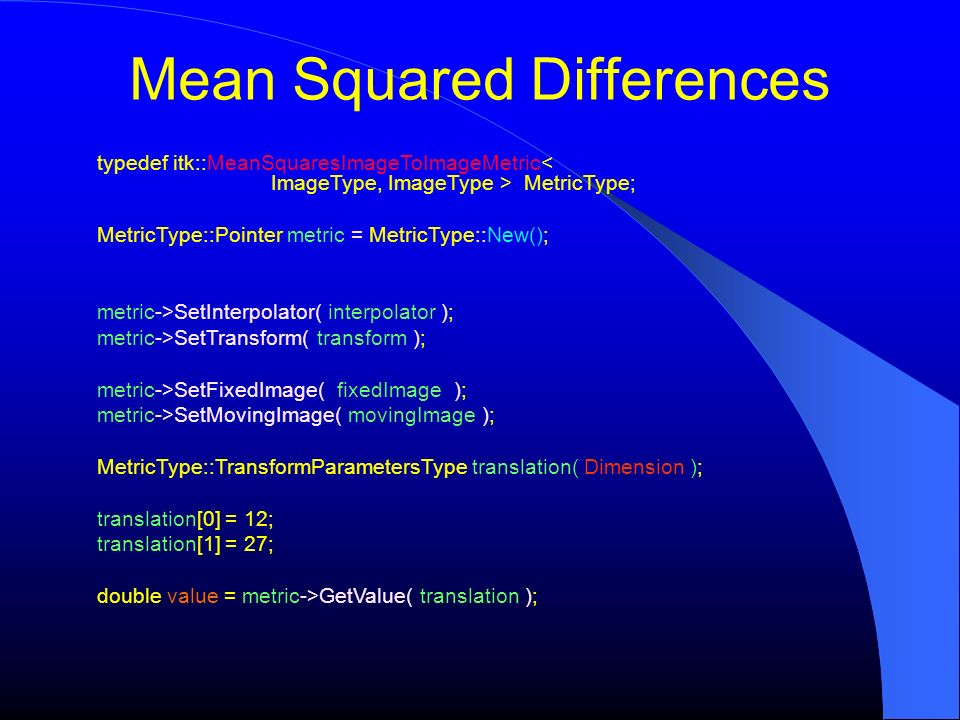 Mean Squared Differences